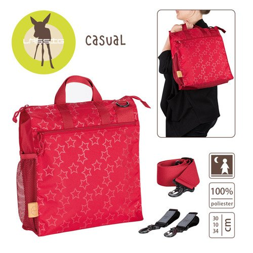 Lassig Casual Label Torba do Wózka Reflective Star flaming