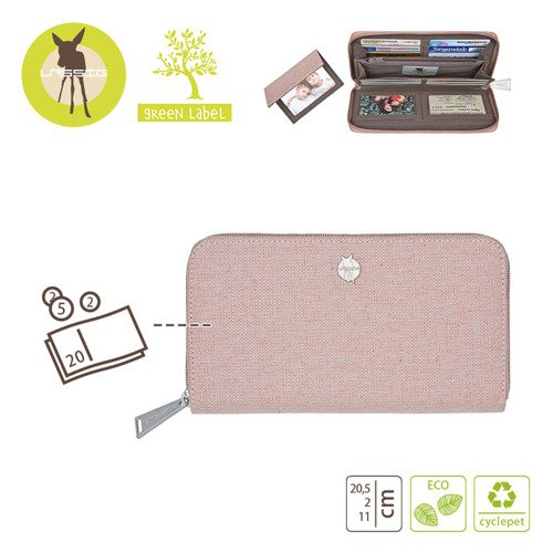 Lassig Green Label Portfel z  Etui na Karty Mix 'n Match Rose