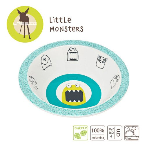 Lassig Miseczka Little Monster granat
