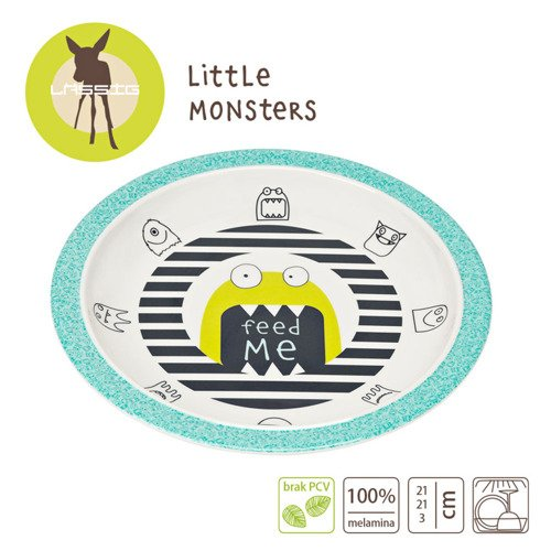 Lassig Talerz Little Monster granat