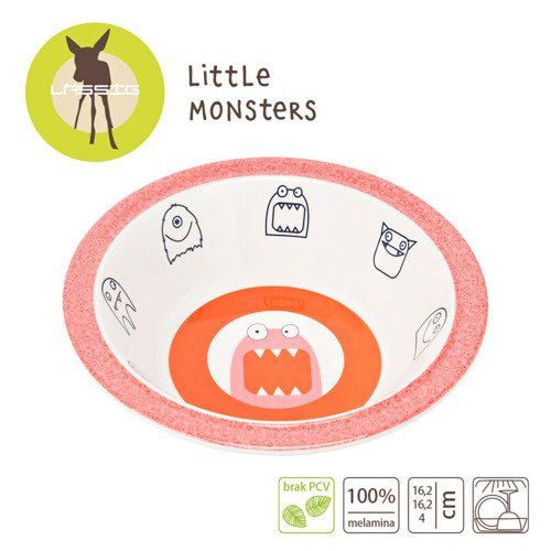 Lassig Talerz Little Monster koral